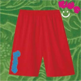 Kids DRY Harf-Pants/RED